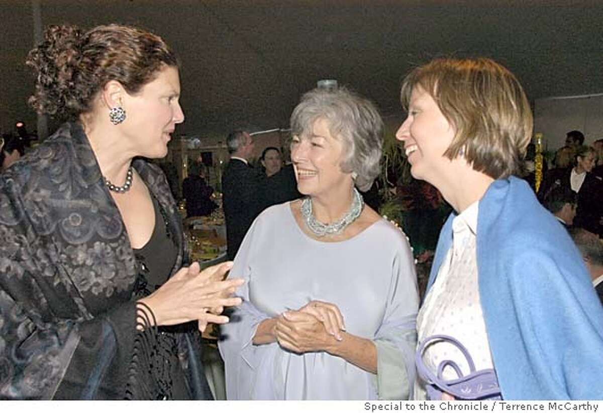 Anne Dickerson Lind (trustee president), Congresswoman Lynn Woolsey, Lori Fogarty (Museum executive director) � Photo caption