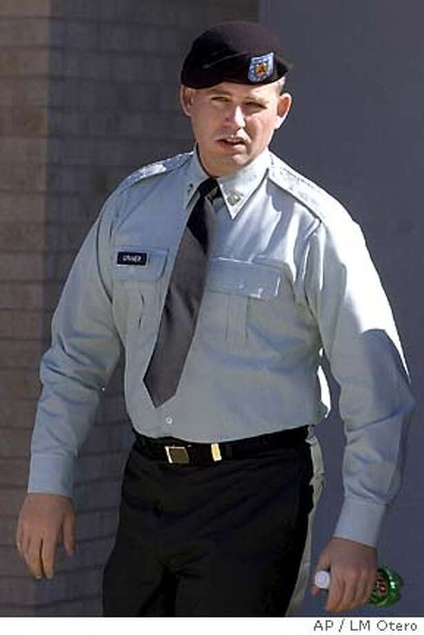 Army Spc. Charles Graner walks during a break in his court martial at Fort Hood, Texas, Thursday, Jan. 13, 2005. Graner is the accused ringleader in the Abu Ghraib prisoner abuse scandal. (AP Photo/LM Otero) Photo: LM OTERO