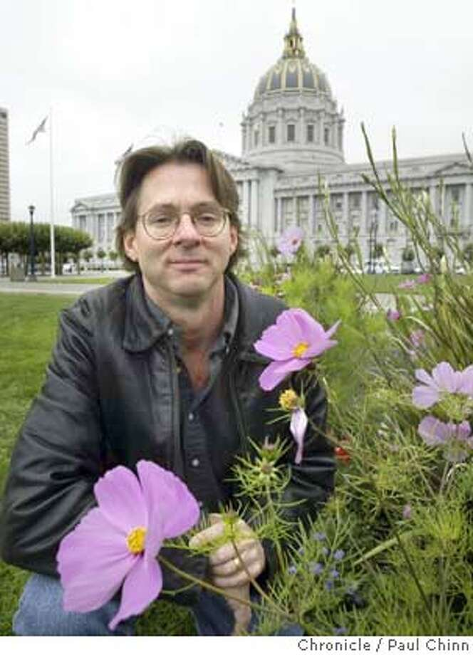 Documentary filmmaker Peter Daulton at City Hall in San Francisco on 7/23/04. Daulton produced and directed a film about Midwesterners sending flower bouquets to random same-sex couples getting married at City Hall in the spring. PAUL CHINN/The Chronicle Photo: PAUL CHINN