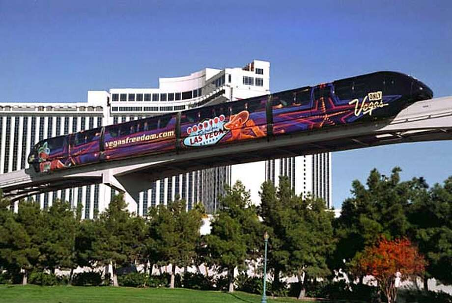 The Las Vegas Monorail will inaugurate service to the public on July 15. The privately funded $650 million transportation system will run along the Las Vegas resort corridor with stops at the following seven stations: MGM Grand; Ballys/Paris; Flamingo/Caesars Palace; Harrahs/Imperial Palace; Las Vegas Convention Center; Las Vegas Hilton; and the Sahara. The monorail is expected to carry an estimated 20 million riders per year. (PRNewsFoto) *XPRN XPFF* SEE STORY 20040629/LATU101, LA (737425) Media contact: Betsy Ward, +1-702-318-4229, bward@rrpartners.com, or Michael Mack, +1-702-228-0222, or +1-702-349-0023, mmack@rrpartners.com, both of R&R Partners, for Las Vegas Monorail Company. Photo: BRIAN JONES