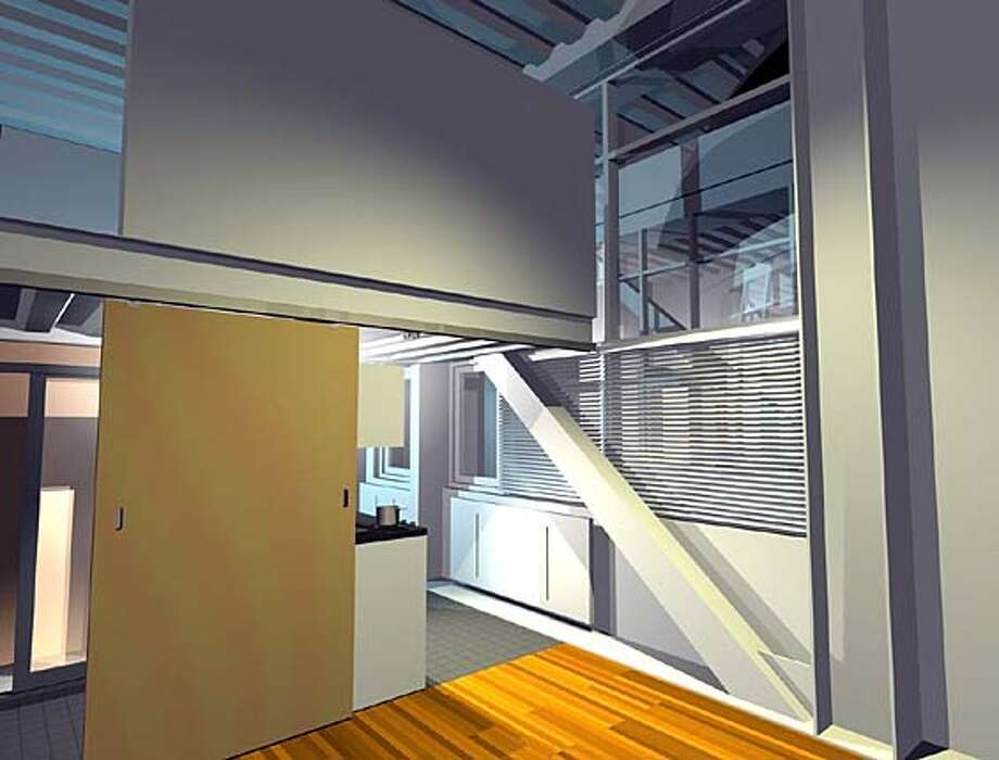 Computer drawing of proposed rental units at 83 McAllister St., San Francisco. Photo: Jones, Partners