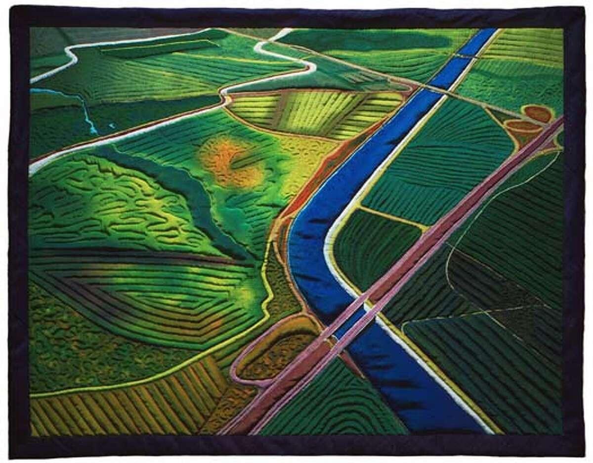 """""""After the Gold Rush"""" (1999) quilted, painted silk by Linda Gass."""