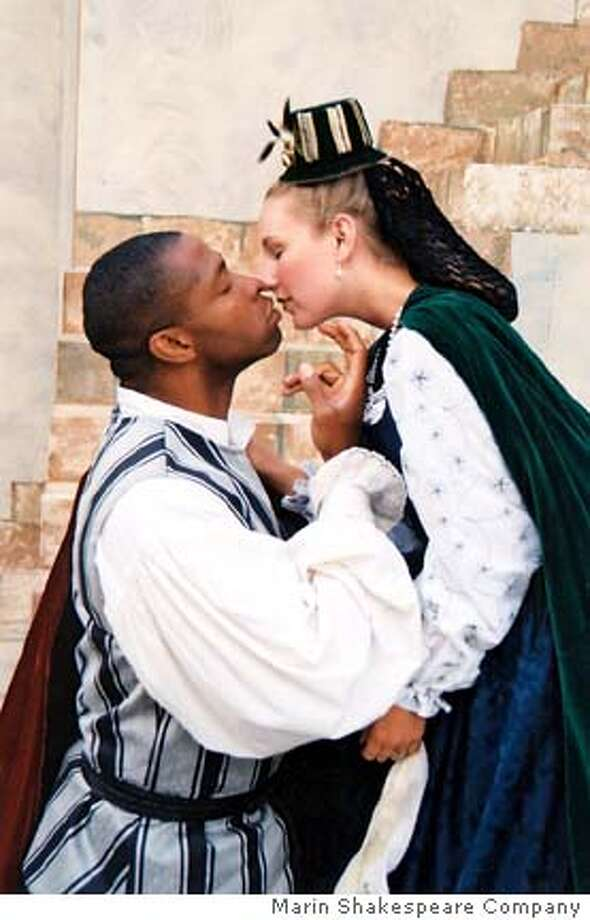 "Marin Shakespeare Company presents ""Othello"" featuring Aldo Billingslea as Othello and Jennifer Le Blanc as Desdemona."