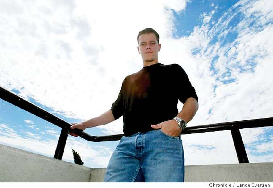 DAMON21008_LI.JPG Actor Matt Damon star of Bourne Supremacy that opens in theaters nation wide this week vested San Francisco promoting his second in a series of action movies around former spy Jason Bourne. By Lance Iversen/San Francisco Chronicle Photo: Lance Iversen
