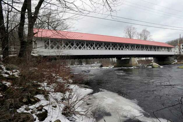 Ashuelot Covered Bridge over the Ashuelot River, N.H., Wednesday, Jan. 25, 2012. The Town of Winchester encompasses Ashuelot, where murder victim Mary Harrison, a Greenwich native, lived. Photo: Bob Luckey / Greenwich Time