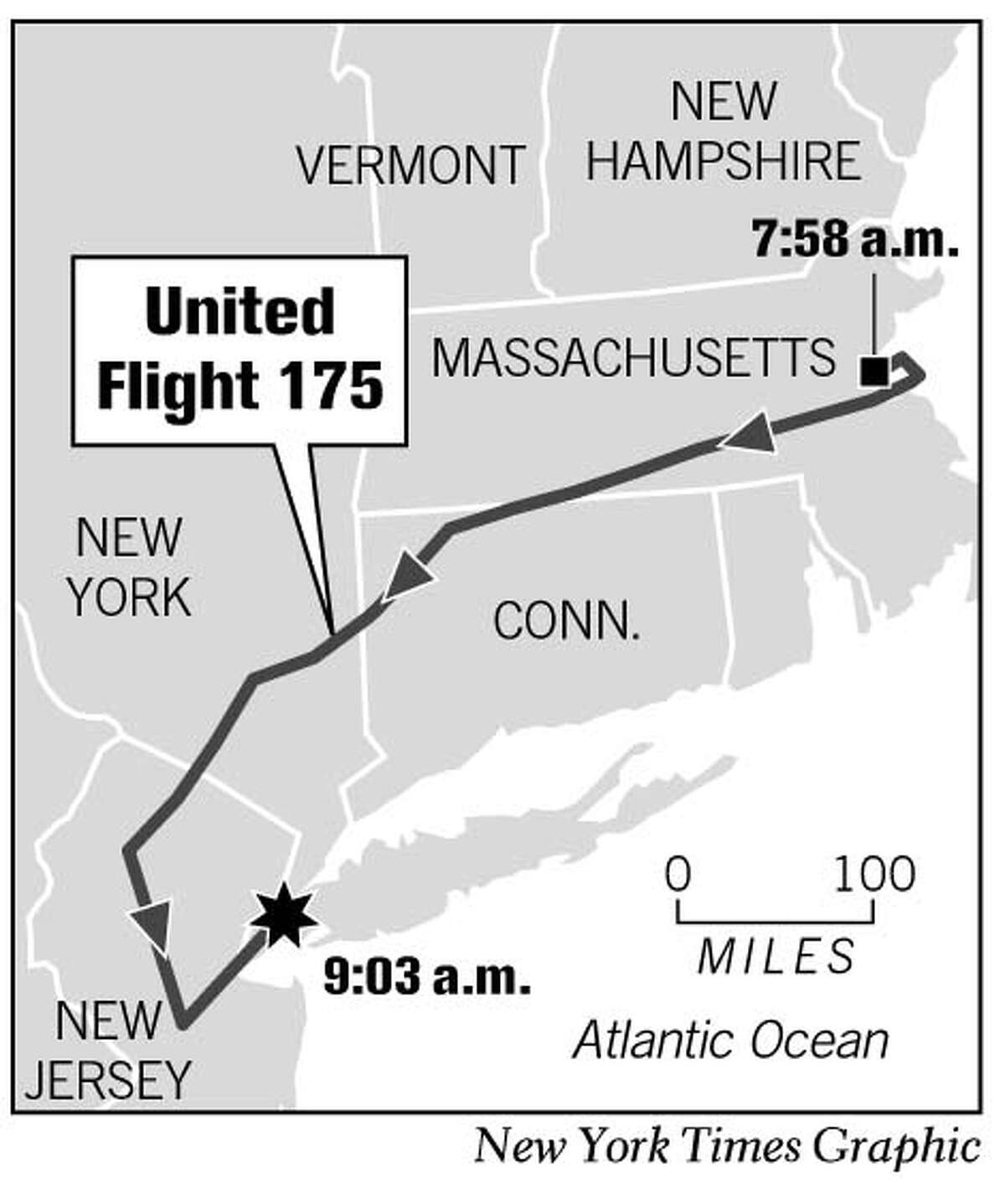 United Flight 175. New York Times Graphic