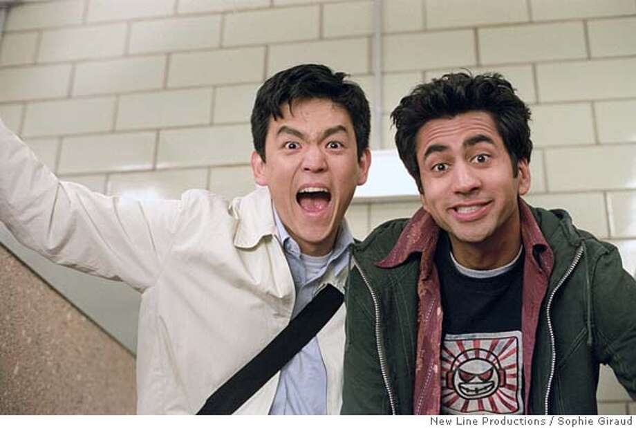 CN-034-17  John Cho (left) stars as �Harold� and Kal Penn (right) stars as �Kumar� in New Line Cinema�s comedy, Harold and Kumar Go To White Castle.  Photo: (c)2004 Sophie Giraud/New Line Productions Ran on: 08-23-2004