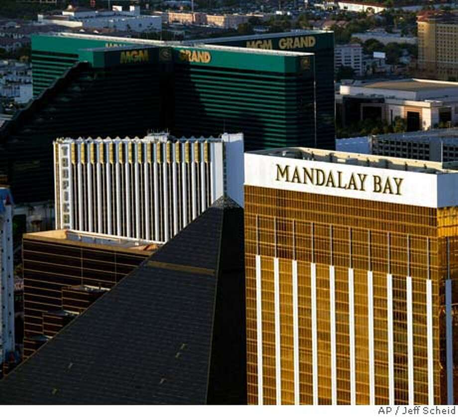 The MGM-Mirage and Mandalay Bay Resort Group board of directors are meeting today to approve the $7.9 billion buyout agreement or the two mega resorts.. If the deal closes, the buyout would be the largest in casino industry history, involving more nat 30 casinos around the world. This photo was taken on Friday, June 11, 2004.AP PHOTO/JEFF SCHEID/ LAS VEGAS REVIEW JOURNAL. -MO Jeff Scheid
