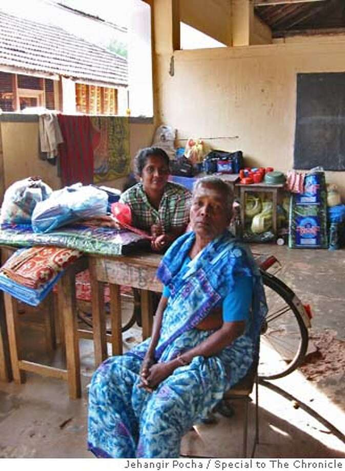 Traumatized by the loss of two of her children, Annalaxmi, 57, says she sees no reason to live, not even her two remaining kids.  Refugee camp at Mullaitivu, in northern Tamil-controlled Sri Lanka.  Jehangir Pocha/Special to The Chronicle Photo: Jehangir Pocha/Special To The Ch