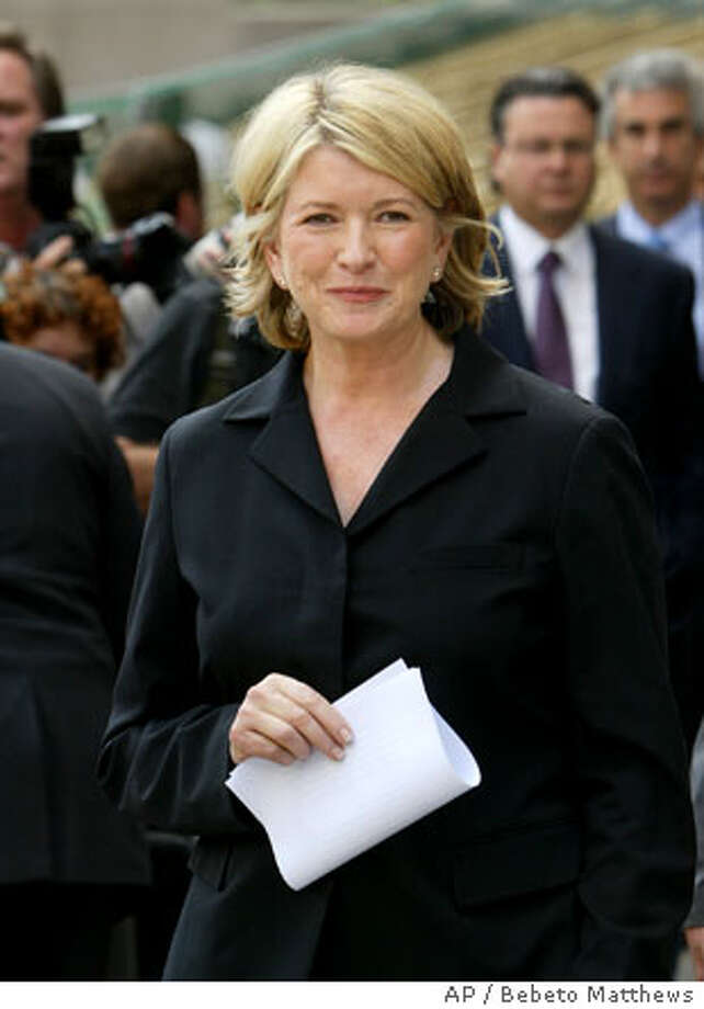 Martha Stewart waits to make a statement after her sentencing at Manhattan federal court, in New York Friday July 16, 2004. Stewart was sentenced Friday to five months in prison and five months of home confinement for lying about a stock sale. (AP Photo/Bebeto Matthews) Photo: BEBETO MATTHEWS