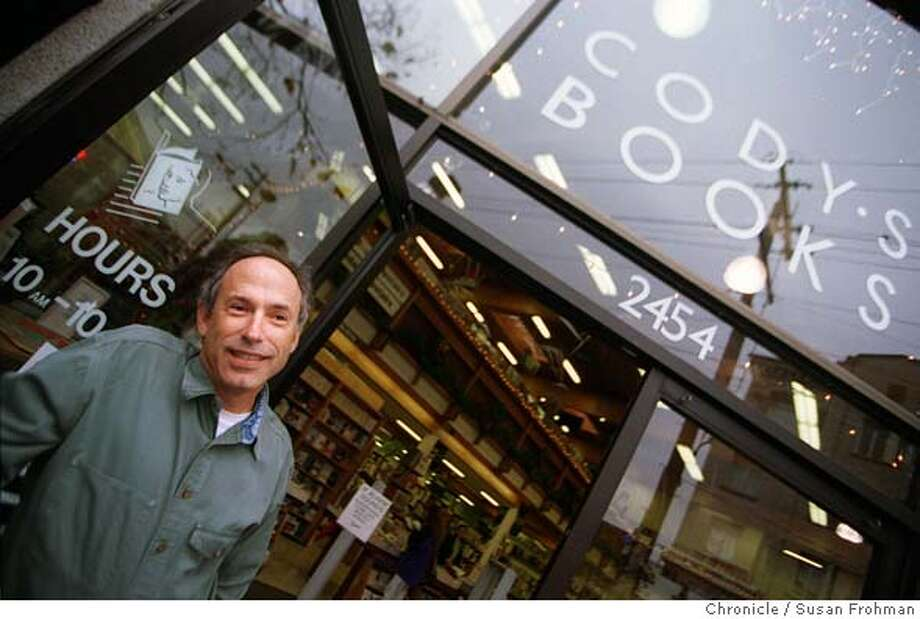 CLEANUP2/C/02DEC98/BU/SLF=Andy Ross, owner of Cody's Books in Berkeley. BY SUSANNA FROHMAN/THE CHRONICLE CAT Photo: SUSANNA FROHMAN