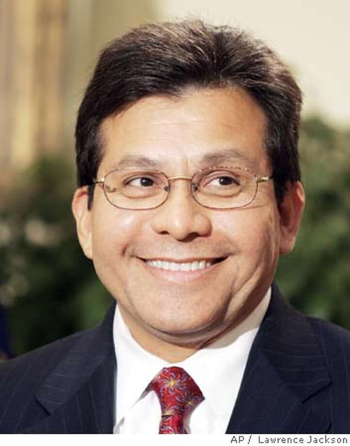 White House counsel Alberto Gonzales smiles as President Bush announced that he was his choice to succeed Attorney General John Ashcroft, in the Roosevelt Room of the White House, Wednesday, Nov. 10, 2004 in Washington. Gonzales, is a Texas confidant and the most prominent Hispanic in the administration. (AP Photo/Lawrence Jackson) Ran on: 11-14-2004 Ran on: 11-22-2004  Bush's Social Security changes will be his &quo;legacy issue&quo; says conservative Grover Norquist. Ran on: 11-22-2004  Bush's Social Security changes will be his &quo;legacy issue,&quo; says conservative Grover Norquist. Nation#MainNews#Chronicle#11/22/2004##5star##0422460249 Photo: LAWRENCE JACKSON