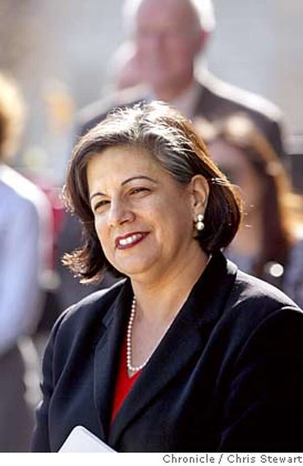 LEAL04-C-07JAN03-MT-CS San Francisco Treasurer Susan Leal announced her candidacy for SF mayor today on the steps of SF City Hall. A vocal and supportive crowd of about 200 supporters listened as the candidate, a mother, lesbian and daughter of Mexican immigrants as she touted her years of government service and public and private sector accomplishments. BY CHRIS STEWART/THE CHRONICLE Susan Leal Susan Leal Susan Leal Ran on: 10-11-2004 Ran on: 10-11-2004 Ran on: 11-01-2004 Ran on: 11-01-2004 Ran on: 11-09-2004 Ran on: 11-09-2004 Ran on: 11-12-2004 Ran on: 11-12-2004 Ran on: 11-12-2004 Ran on: 11-27-2004 Ran on: 12-04-2004 Ran on: 12-11-2004 Ran on: 12-11-2004 CAT NORTHERN CALIFORNIA MANDATORY CREDIT: PHOTOG AND SF CHRONICLE/ , MAGS OUT Photo: CHRIS STEWART
