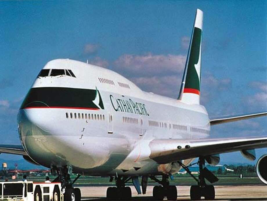 A Cathay Pacific 747-400 sits on the tarmat. Photo: Handout