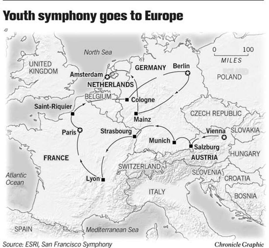 Youth Symphony Goes To Europe. Chronicle Graphic Photo: Joe Shoulak