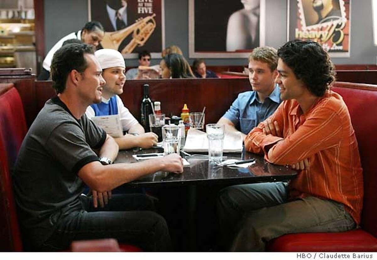 ENTOURAGE: Kevin Dillon, Jerry Ferrara, Kevin Connolly, Adrian Grenier. HBO / Claudette Barius.