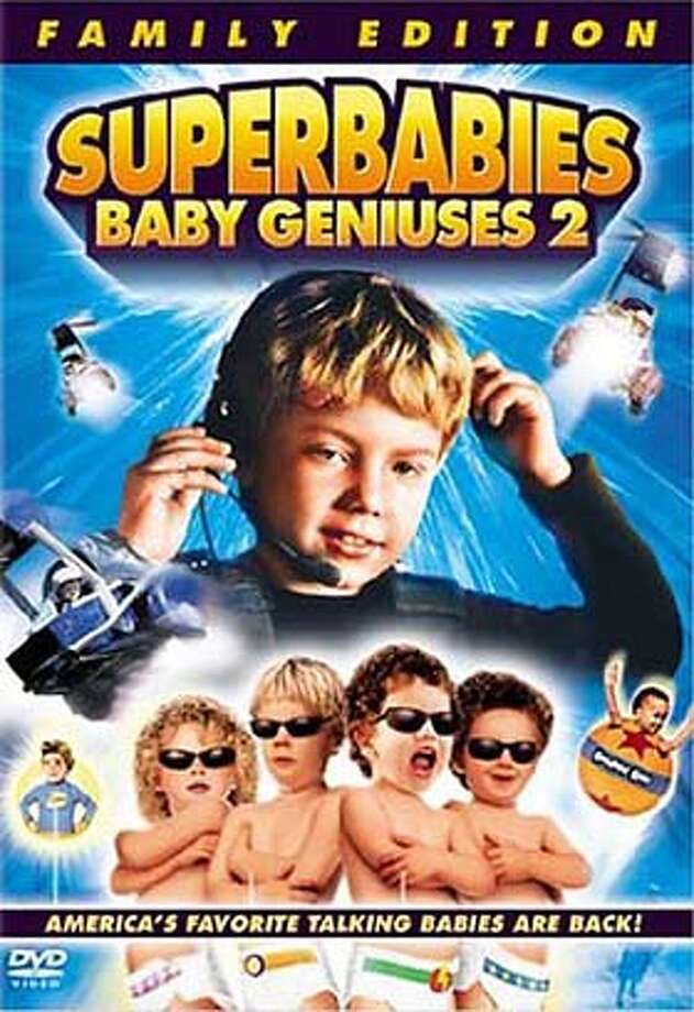 "DVD cover art for, ""Superbabies; Baby Geniuses 2"" DVD."