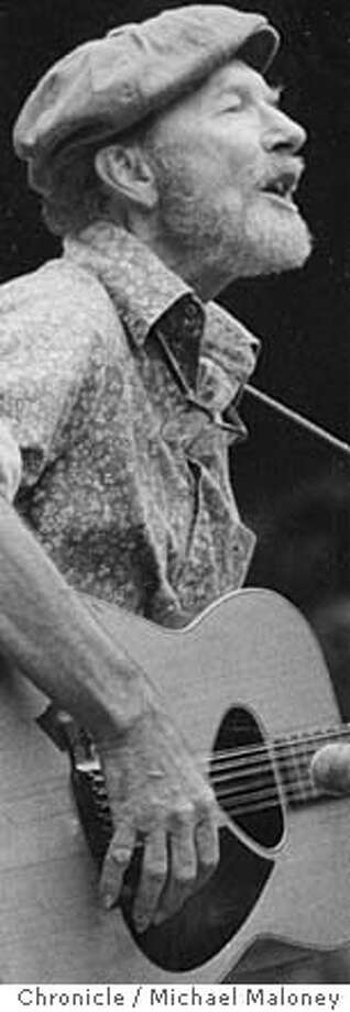 PETE SEEGER PERFORMS AT SERN GROVE IN SAN FRANCISCO,JULY 15, 1979. PHOTO BY MIKE MALONEY THE CHRONICLE.