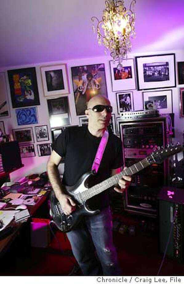 Rock guitar player, Joe Satriani, at his home recording studio in his Presidio area home in San Francisco.  Event on 4/5/04 in San Francisco. Craig Lee / The Chronicle Photo: Craig Lee
