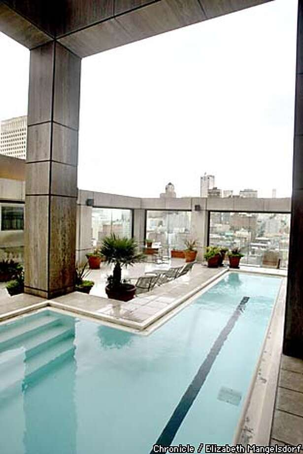 The lap pool features sweeping views. Chronicle photo by Liz Mangelsdorf