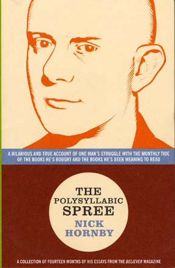 "Cover of ""The Polysyllabic Spree"" by Nick Hornby."