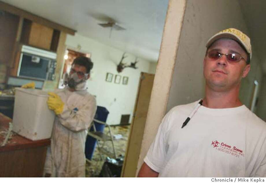 Crime Scene Cleaners are at the top of their field with very little competition. Started by Neal Smither in 1996 he turned an idea he saw from watching Pulp Fiction into a multi-million dollar business. MIKE KEPKA/The Chronicle Photo: MIKE KEPKA