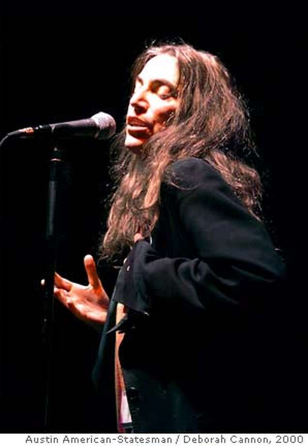 Patti Smith performs during the South by Southwest Music Festival Friday, March 17, 2000, at Waterloo Park in Austin, Texas. (AP Photo/Austin American-Statesman / Deborah Cannon) ALSO RAN 4/26/2001 Photo: DEBORAH CANNON