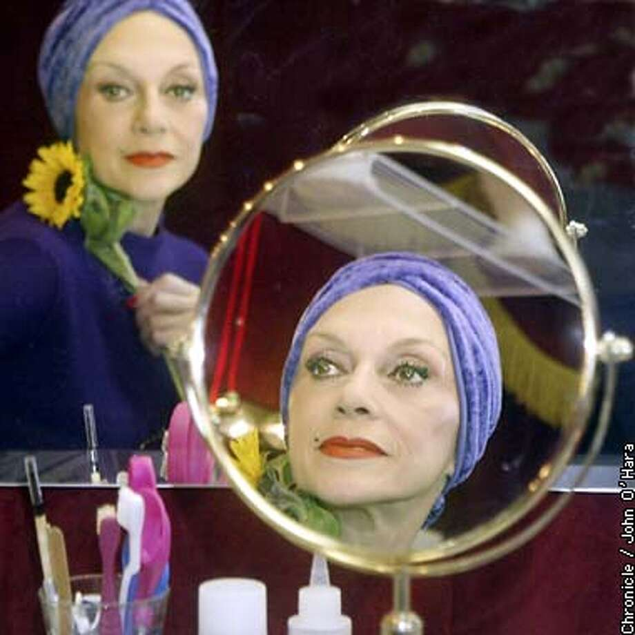 "TEATRO AINZANNI , Pier 27, San Francisco,CA.  ""Lilianne Montevecchi"" in her dressing room  photo/John O'hara"