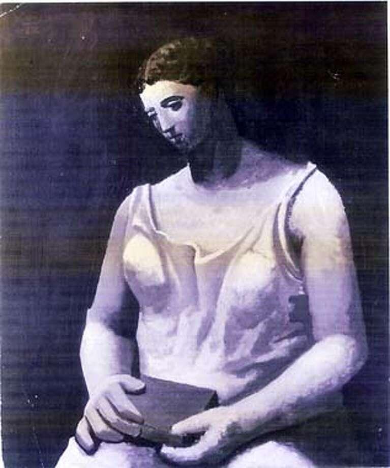 """Picasso's """"Femme en Blanc"""" (1922) HANDOUT PHOTO Photo: HANDOUT"""