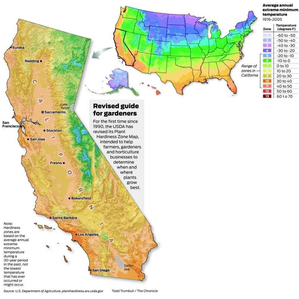 USDA releases new Plant Hardiness Zone Map - SFGate