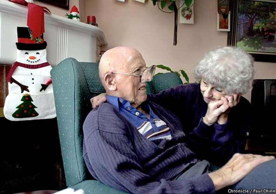 Ray and Esther Scheele are reunited in their Sunset District home of 53 years. Ray, 84, suffers from dementia and hearing loss. Chronicle photo by Paul Chinn
