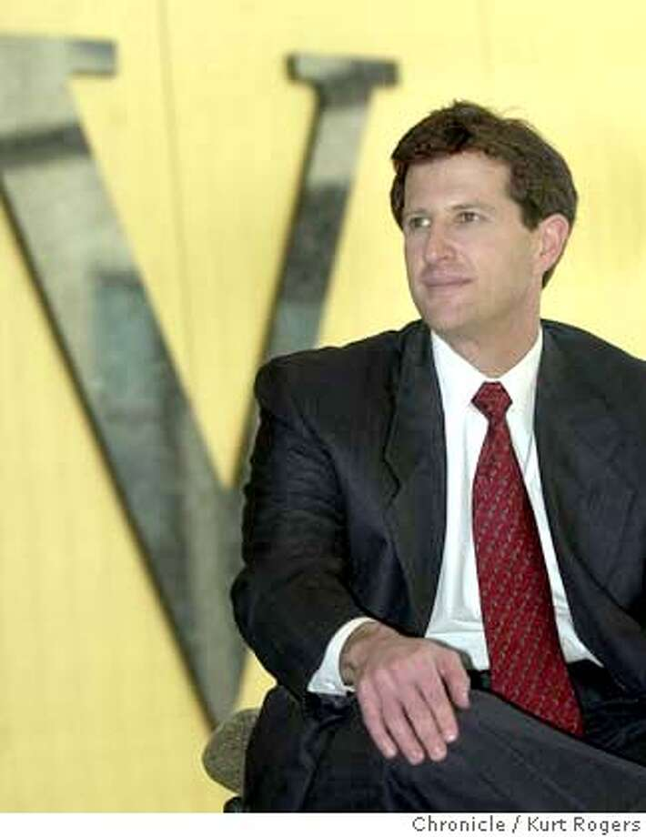 BLOOM-C-08FEB02-BU-KR  Veritas CEO Gary Bloom at the Veritas headquarters in Mountain View, Feb 8, 2002. More than one-third of the Veritas Software Corps market value evaporated Tuesday July 6, 2004, after the company warned of an earnings shortfall that amplified investors recent doubts about management's credibility.photo by Kurt Rogers Photo: Kurt Rogers