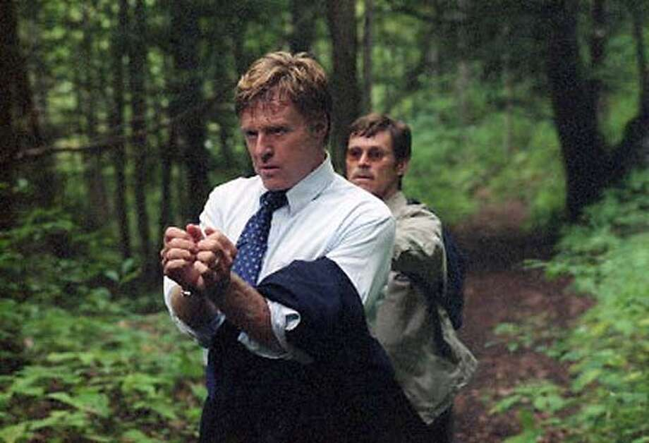 "Robert Redford and Willem Dafoe in ""The Clearing"" Photo: Handout"