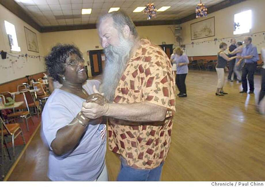 Ella Kendrick and Don Martin, both San Franciscans, pair up during the dance workshop. Zydeco lovers attended the Willie Bushnell Zydeco dance workshop at Zydeco Americana, a weekend-long celebration of Creole music and dance in Alameda on 7/3/04. PAUL CHINN/The Chronicle Photo: PAUL CHINN
