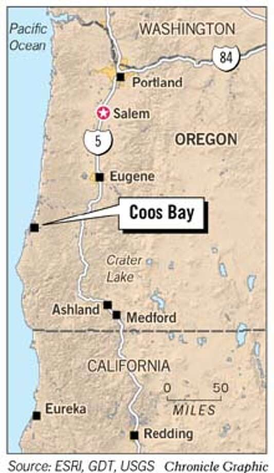 Coos Bay, Oregon. Chronicle Graphic