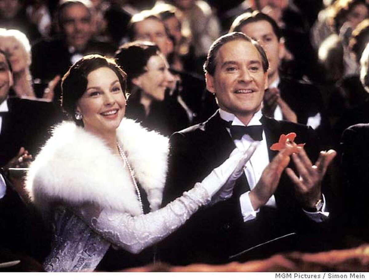 """Actor Kevin Kline and actress Ashley Judd, star as Cole and Linda Porter in MGM Pictures' musical drama """"De-Lovely"""" about the life of famed American composer Cole Porter. The film opens in select United States cities July 2, 2004. MGM Pictures / Simon Mein/MGM/Handout"""