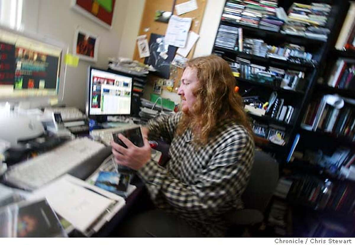 Event on 6/25/04 in San Francisco. Rusty Hodge is program director and general manager of soma fm, an internet radio station that he runs from his Bernal Heights home. Chris Stewart / The Chronicle