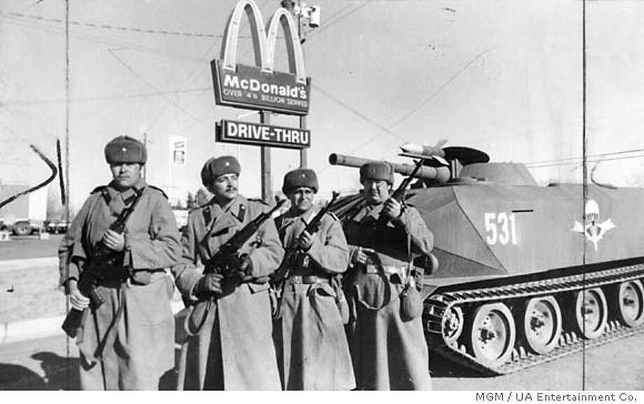 """In 1984's """"Red Dawn,"""" Russians and Latin American forces invade the United States. Photo courtesy of MGM / UA Entertainment Co."""
