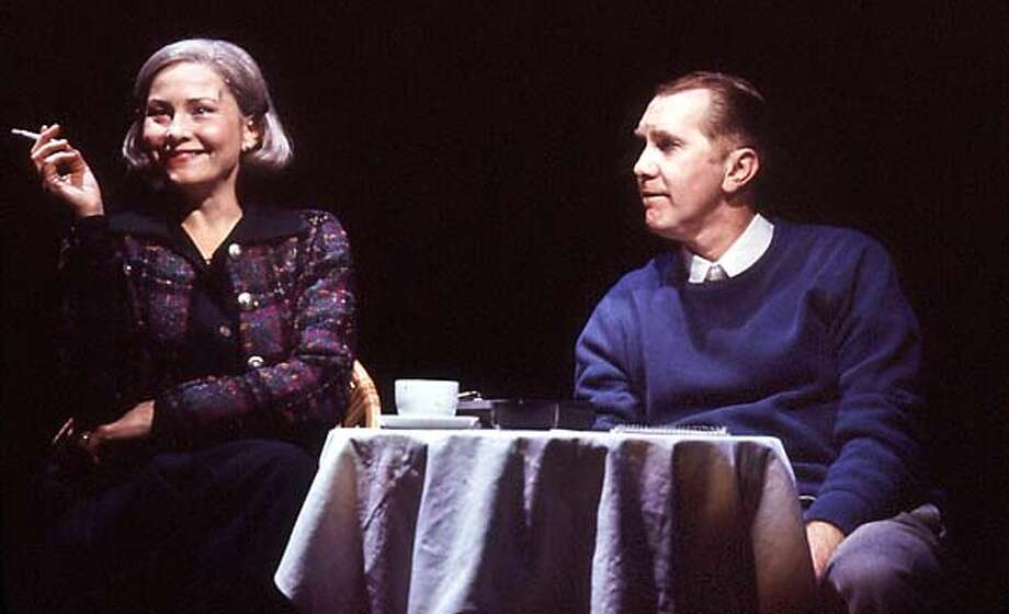 "Cherry Jones and Harry Groener, above, star in ""Imaginary Friends,"" by first-time playwright Nora Ephron."