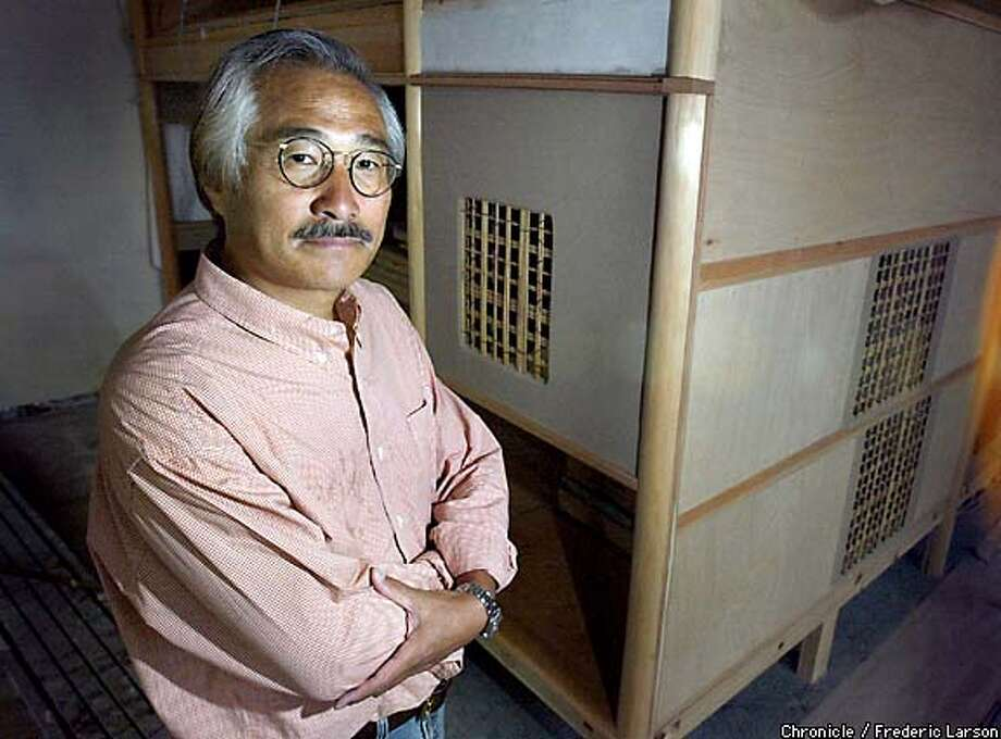 """Osamu Sato is the Japanese architect who designed the """"elegant and simple"""" teahouse for the new Asian Art Museum. Chronicle photo by Frederic Larson"""