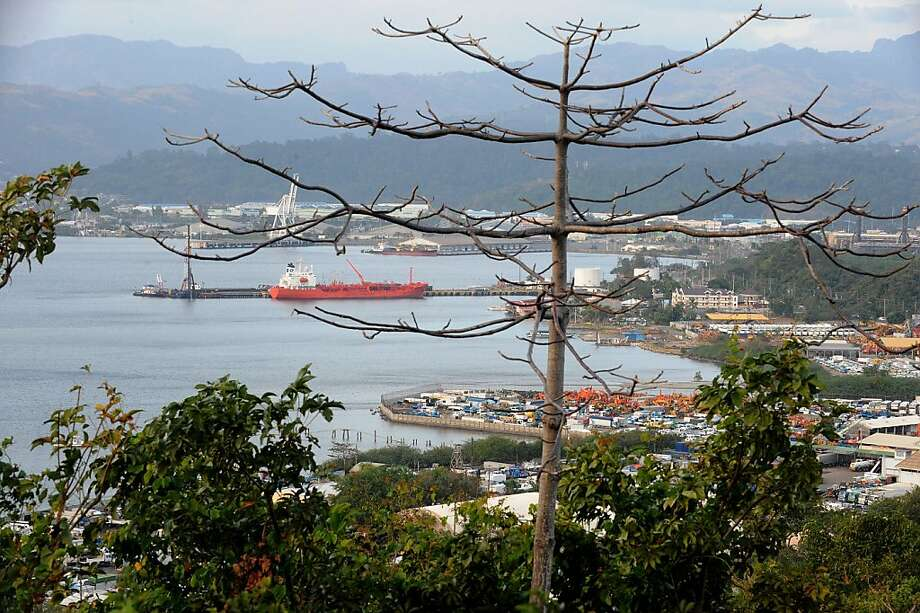 Photo taken on January 25, 2011, shows Subic Bay harbour in this former US military base at Subic Bay.  A huge former US military base have found a new lease on life in post-Cold War Philippines, with budget airlines and cargo ships taking the place of fighter jets and destroyers. Photo: Jay Directo, AFP/Getty Images