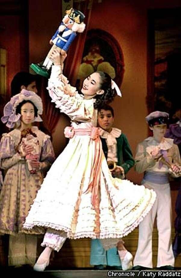 "Mona Meng, 13, played Clara in the San Francisco Ballet production of ""Nutcracker.'' Chronicle photo by Katy Raddatz"