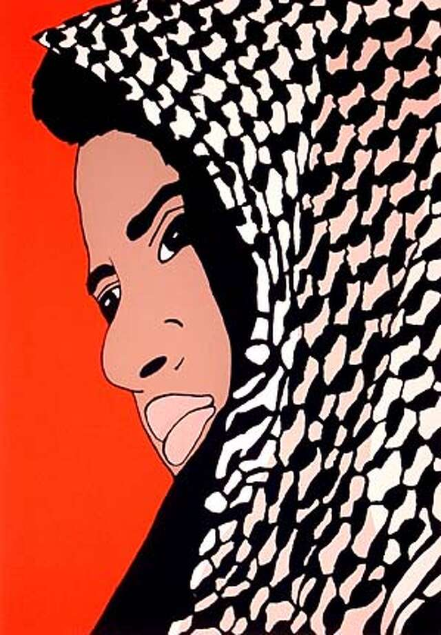 "Palestina Sera Libre (""Palestine Will Be Free"")  Jesus Barraza (note spelling: 2 r's, one z is cq), 2001  screenprint"