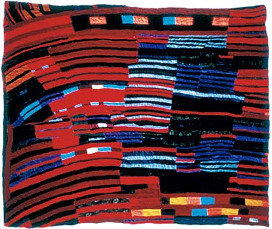"""Improvisational: """"String'' by Rosie Tompkins was done in 1985. Photo courtesy of the Berkeley Art Museum"""