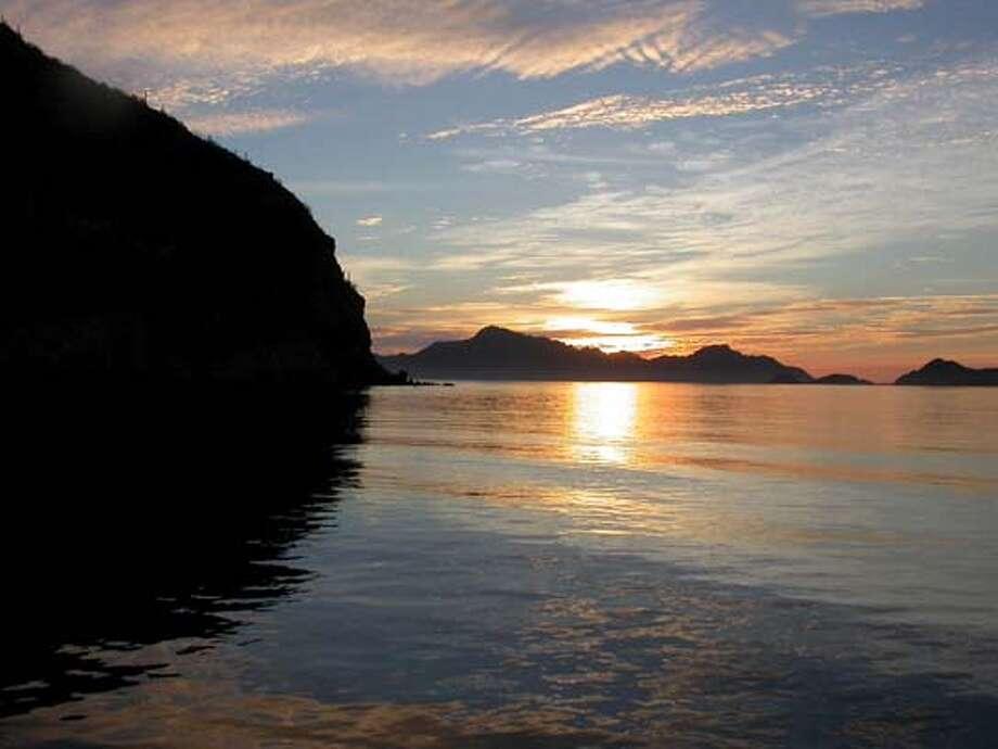 Loreto sunrise on the Sea of Cortez
