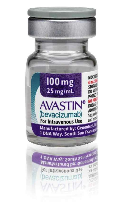 This undated photo provided by Genentech Inc. on Jan. 31, 2011 shows a vial of the drug Avastin. Surprising results from two new studies may reopen the debate about the value of Avastin for breast cancer. The drug helped make tumors disappear when given with chemotherapy before surgery to certain women with early-stage disease, doctors found. The FDA recently revoked Avastin's approval for advanced breast cancer, but the studies suggest it might help others whose cancer has not widely spread. (AP Photo/Genentech Inc., File)