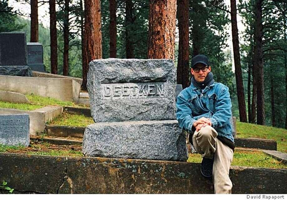 David Rapaport at Julius Deetken's grave. PHOTO COURTESY DAVID RAPAPORT