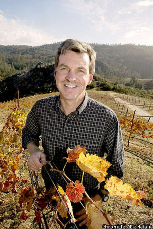 Different Flavor: Chuck Hovey is making his mark with Tempranillo grapes. Chronicle photo by Liz Hafalia