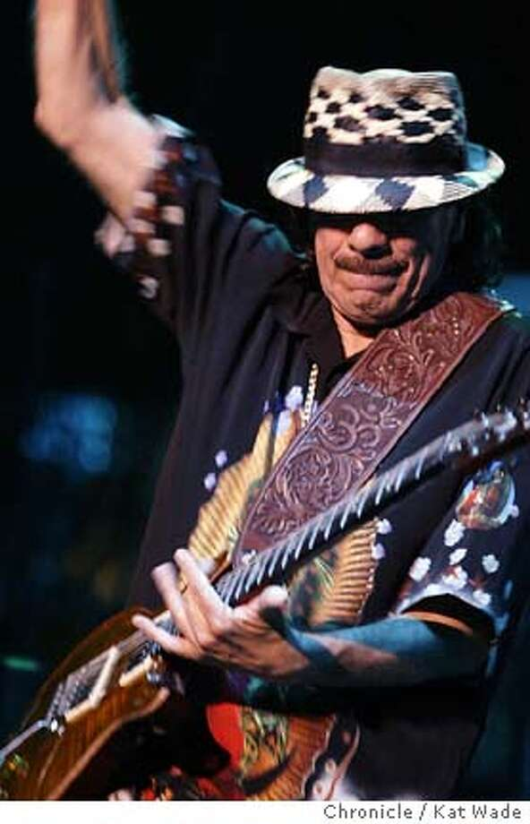 """Nobody can make a guitar scream like he can, but with his artful solos and political tirades Carlos Santana could have used the help of the celebrities on his comeback albums """"Supernatural"""" and """"Shaman"""" to keep the attention of new fans. Chronicle photo by Kat Wade"""