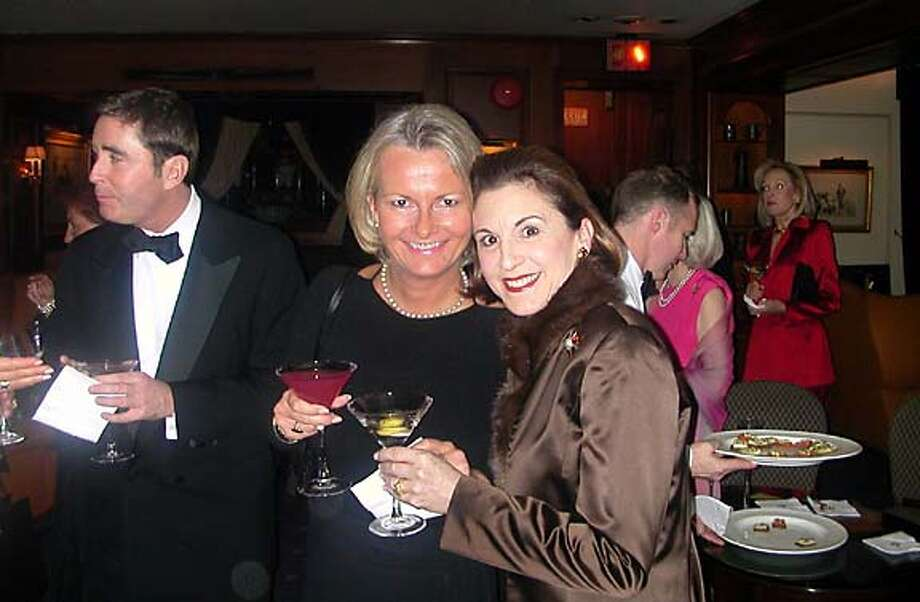 Big Five-Oh: Hotel executive Katie Meyer, left, came from London to wish Marsha Monro Wright a happy 50th birthday. Photo courtesy of John Wright